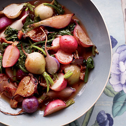 Sauteed Radishes with Orange Butter