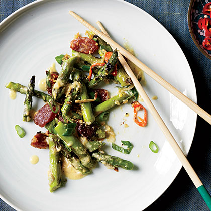 Singaporean Sauteed Asparagus with Ginger