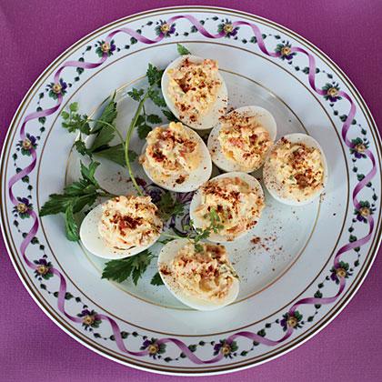 Smoked-Salmon Deviled EggsRecipe