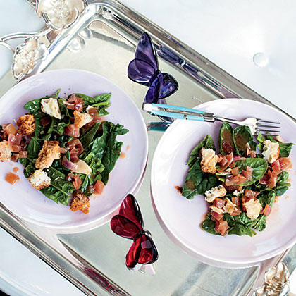Spinach Salad with Garlic-Cider Vinaigrette