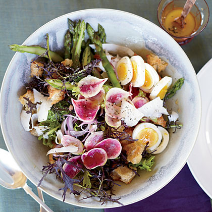 Spring Panzanella with Asparagus