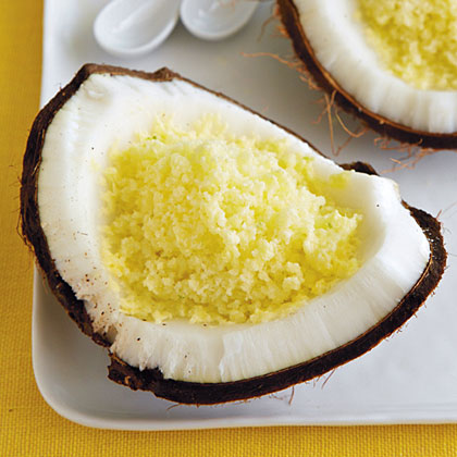 Pineapple-Coconut Ice RecipeHawaii is known for its legendary shaved ice. To add a little pep to this fun dessert, add a few splashes of your favorite liquor.
