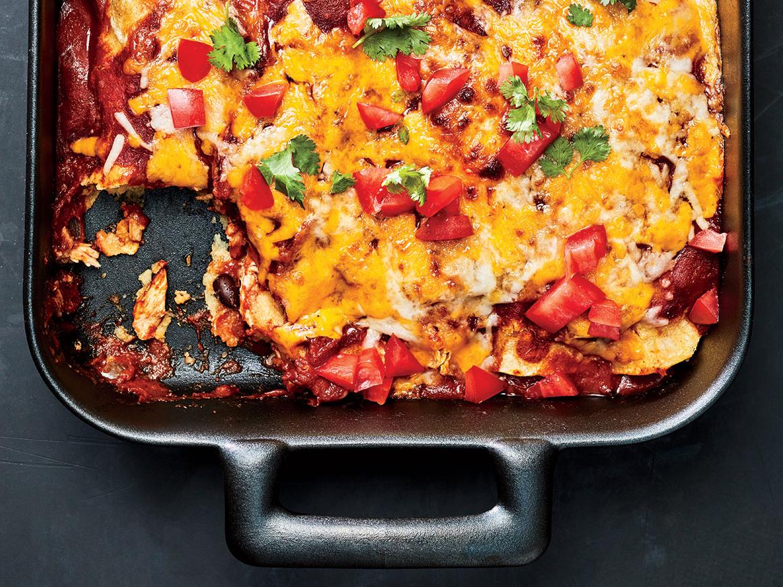 20-Minute Chicken Enchiladas
