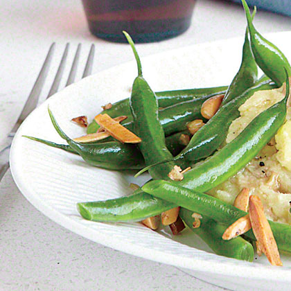almond green beans recipe   myrecipes