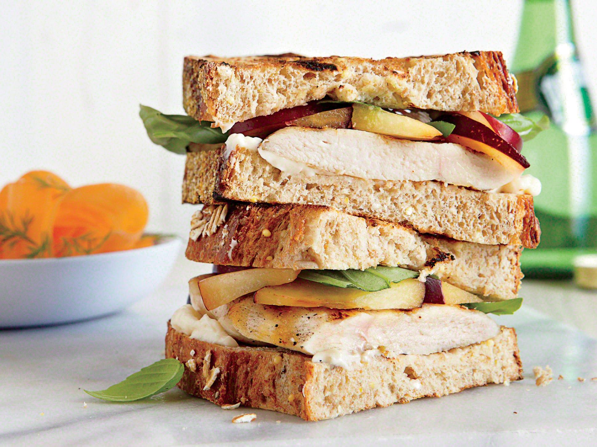 Grilled Turkey-Plum Sandwiches