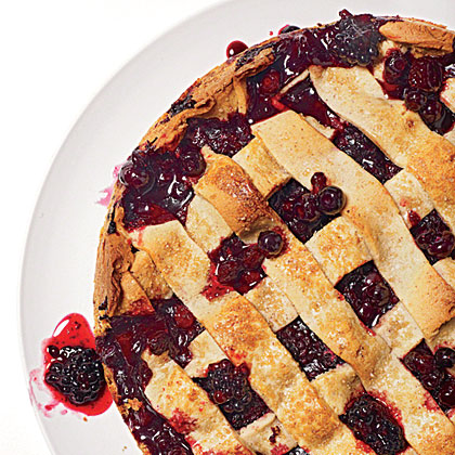 Rustic Huckleberry-Blackberry Tart Recipe