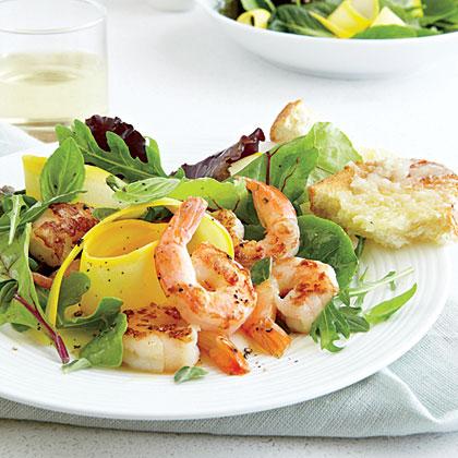 Shrimp-Kräuter-Salat