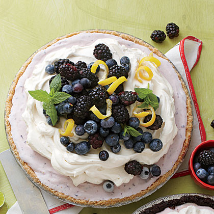 Blueberry-Cheesecake Ice-Cream Pie Recipe | MyRecipes