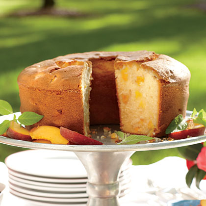 Two-Step Fresh Peach Pound Cake