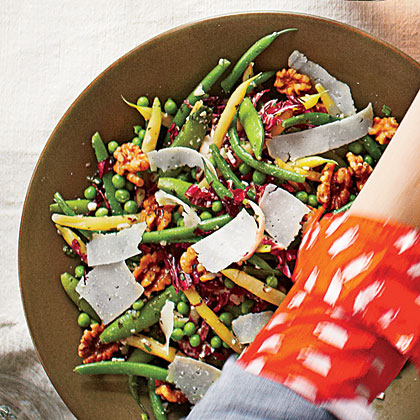 Snappy Beans and Peas with Pecorino