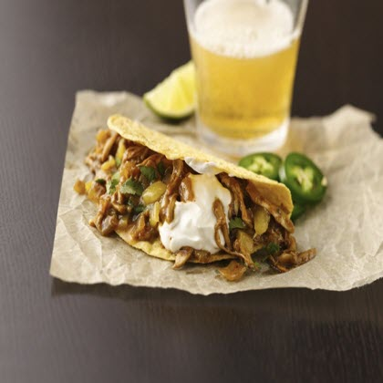 Beer Braised Chicken Tacos
