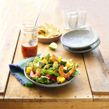 Shrimp and Mango Taco Salads