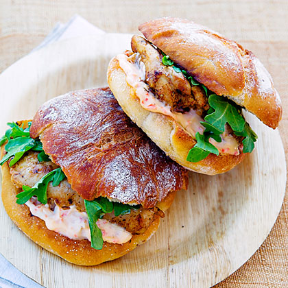 Charmoula Grilled Chicken Sandwiches