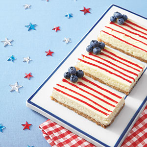 Cake of the Week: American Flag Cheesecake Bars