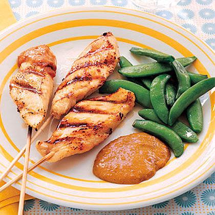 Chicken Skewers with Peanut Sauce Recipe