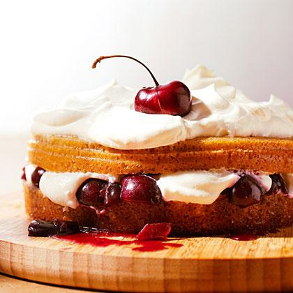 Giant Cherry Shortcake Recipe