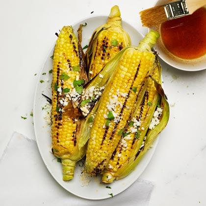 <p>Grilled Oaxacan Corn</p>