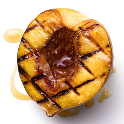<p>Grilled Peaches with Honey</p>