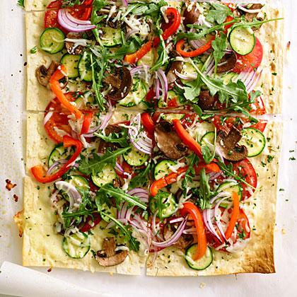 Herbed Flatbread Pizzas