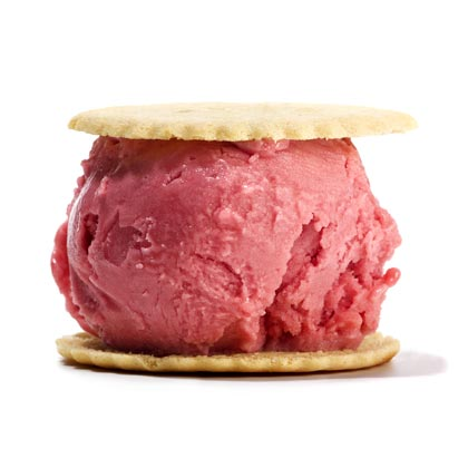 <p>Lemon-Raspberry Ice Cream Sandwich</p>