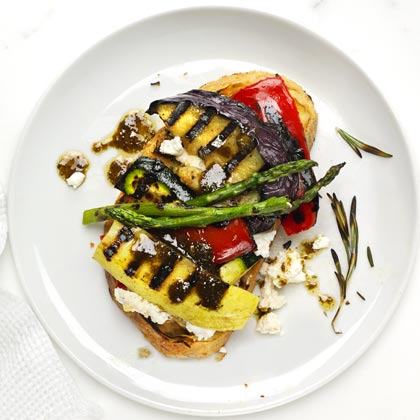 <p>Open-Face Grilled Vegetable Sandwich</p>