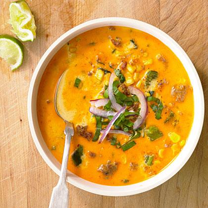 Spicy Chorizo Corn Chowder