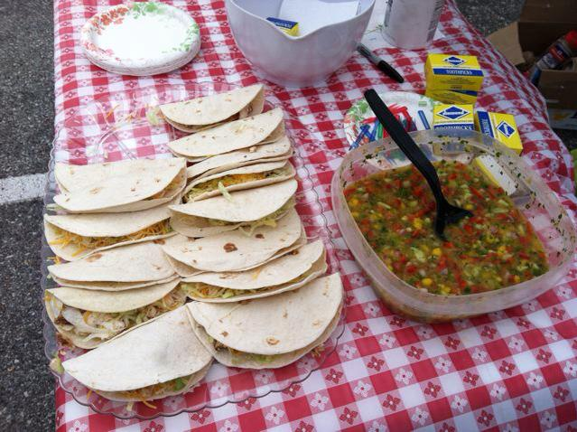 Birmingham Eggfest: Jerk Chicken Tacos with Mango Salsa