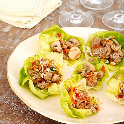 Pork and Mushroom Lettuce Wraps Recipe