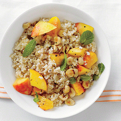 Bulgur with Peaches and Mint Recipe
