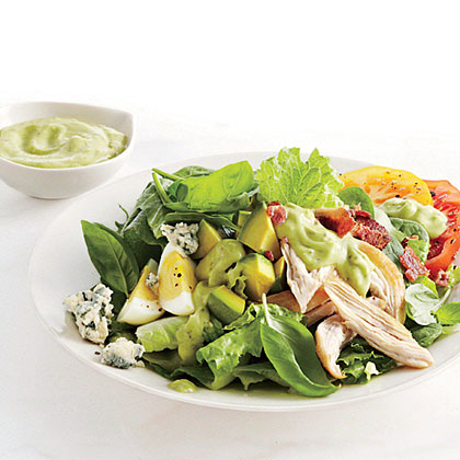 Smoked Chicken Cobb Salad with Avocado Dressing