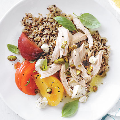 Chicken Salad with Orange-Pistachio Vinaigrette