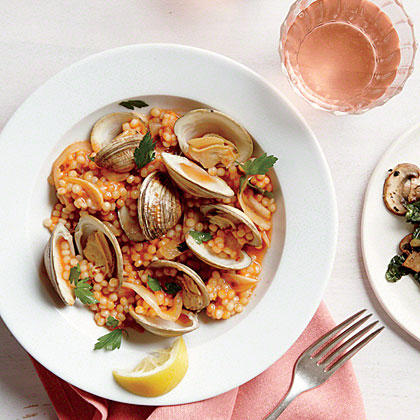 Clams with Israeli Couscous Recipe
