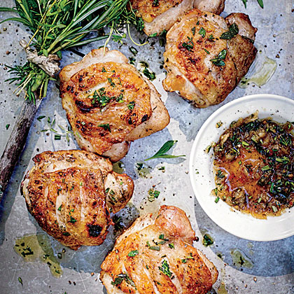 Clinched and Planked Chicken Thighs