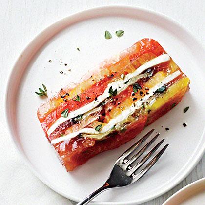 Heirloom tomato and eggplant terrine recipe myrecipes for Tomato terrine