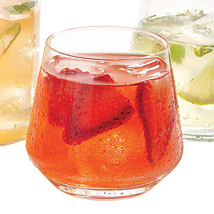 Strawberry and Rhubarb Lemonade