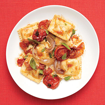 Tomato Ravioli RecipeReady-made ravioli and simple ingredients make this dinner of Tomato Ravioli so easy.