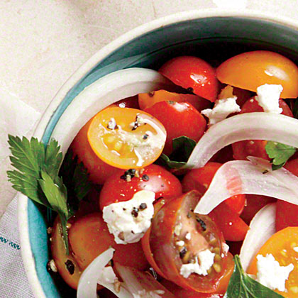 Tomato, Sweet Onion, and Parsley Salad