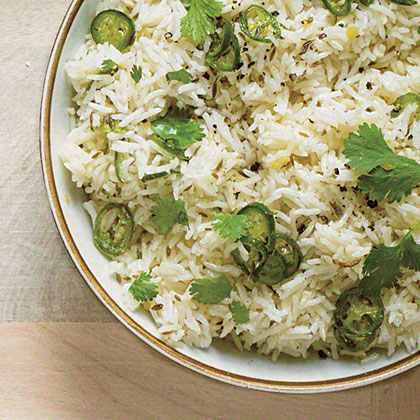 Yogurt Rice with Cumin and Chile