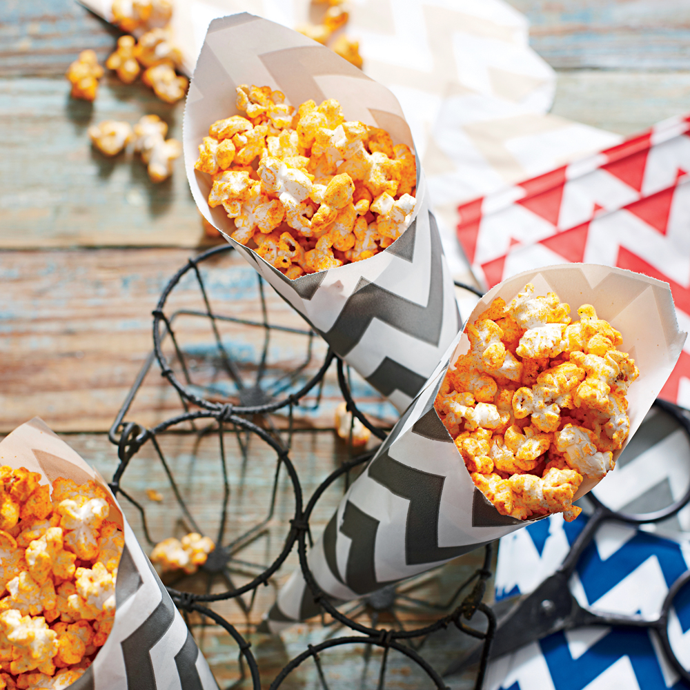 BBQ-Ranch Popcorn RecipeEncourage friends to grab a cone of savory popcorn for their walk to the stadium. Three ingredients quickly transform microwave popcorn into a must-have treat.