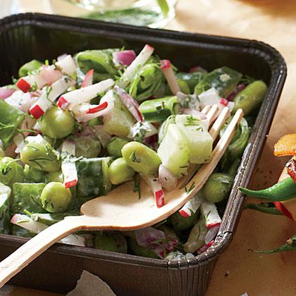 Cucumber-and-Sugar Snap Salad