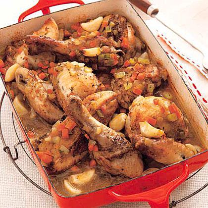 Chicken with 40 Cloves of GarlicRecipe
