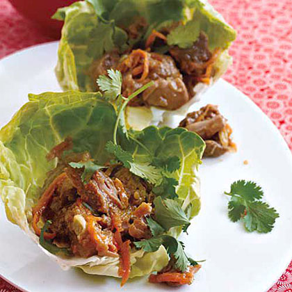 Hoisin Pork in Lettuce Cups