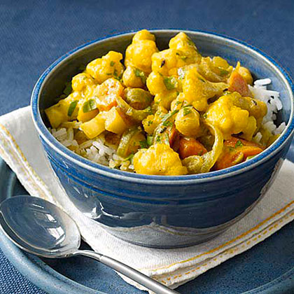 Indian Chickpea-and-Vegetable StewRecipe