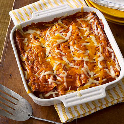 Vegetable and Pinto Bean Enchiladas