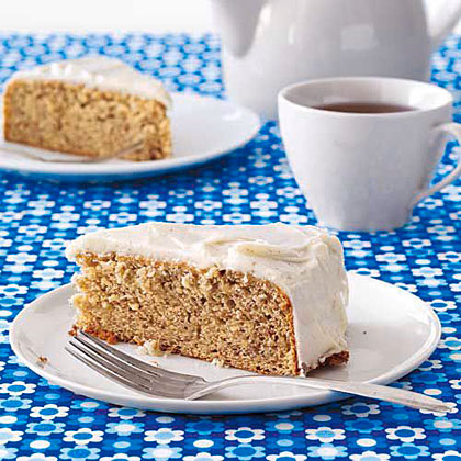 Banana Snack Cake with Brown-Butter Icing Recipe