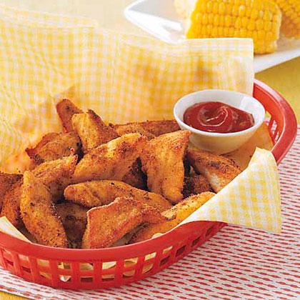 Cajun Chicken Fingers with Spicy KetchupRecipe