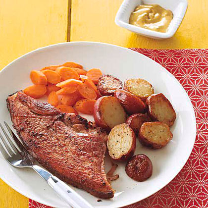 Ham Steak with Chipotle-Mustard Sauce