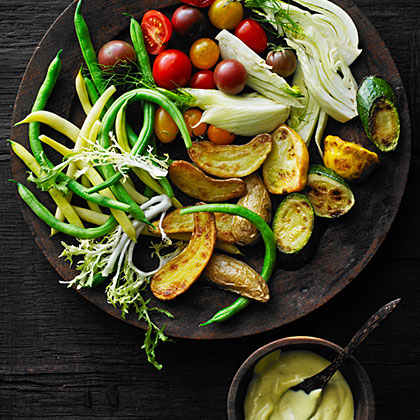 Late-Summer Vegetables with AioliRecipe