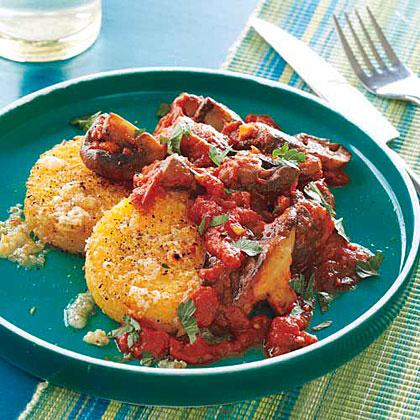 Polenta With A Leek And Mushroom Ragu Recipes — Dishmaps