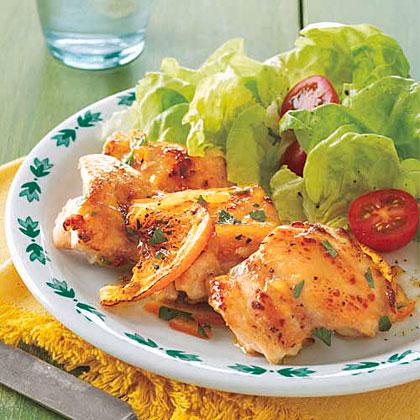 Orange Marmalade-Glazed Chicken Thighs